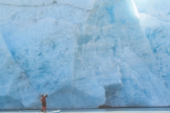 Paddle-Boarding-at-Portage-Glacier